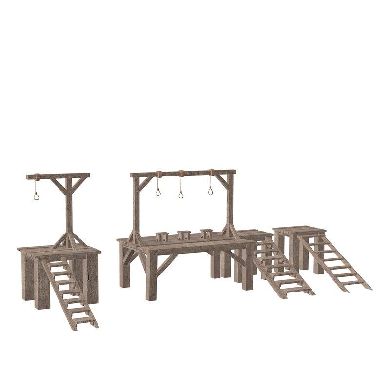 set gallows 3D model