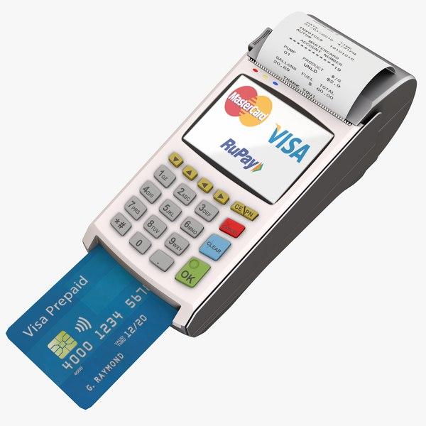 3d model pos payment terminal