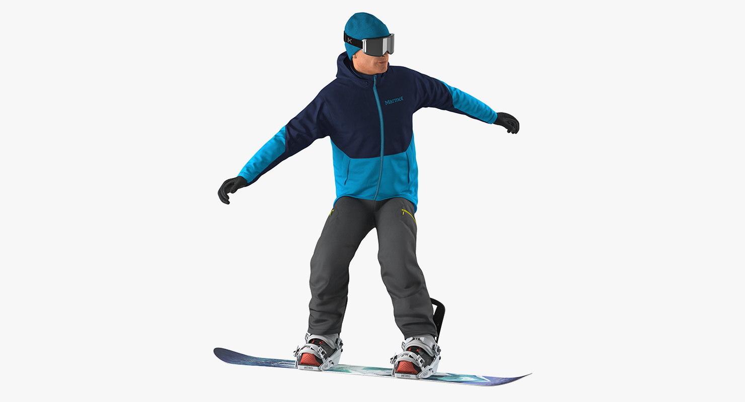 Snowboarder Riding Pose