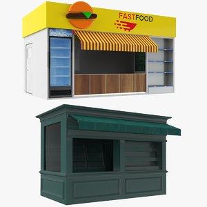 3D kiosks booth model