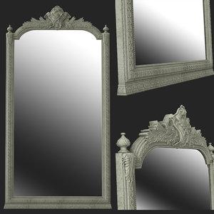 3D decoration mirror interior model