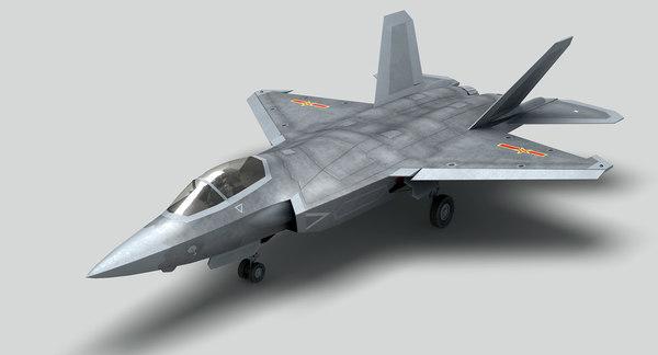 jet fighter shenyang fc-31 3D model