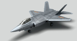 jet fighter shenyang fc-31 3D model