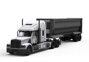 heavy semi trailer 3D model