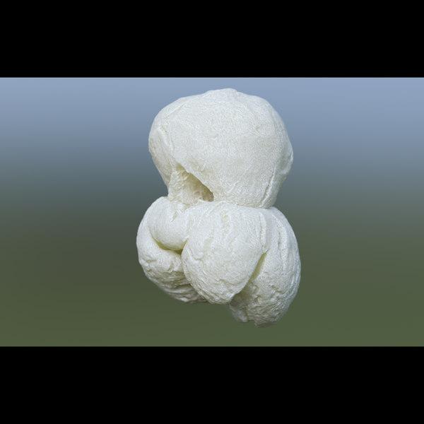 3D popcorn food snack