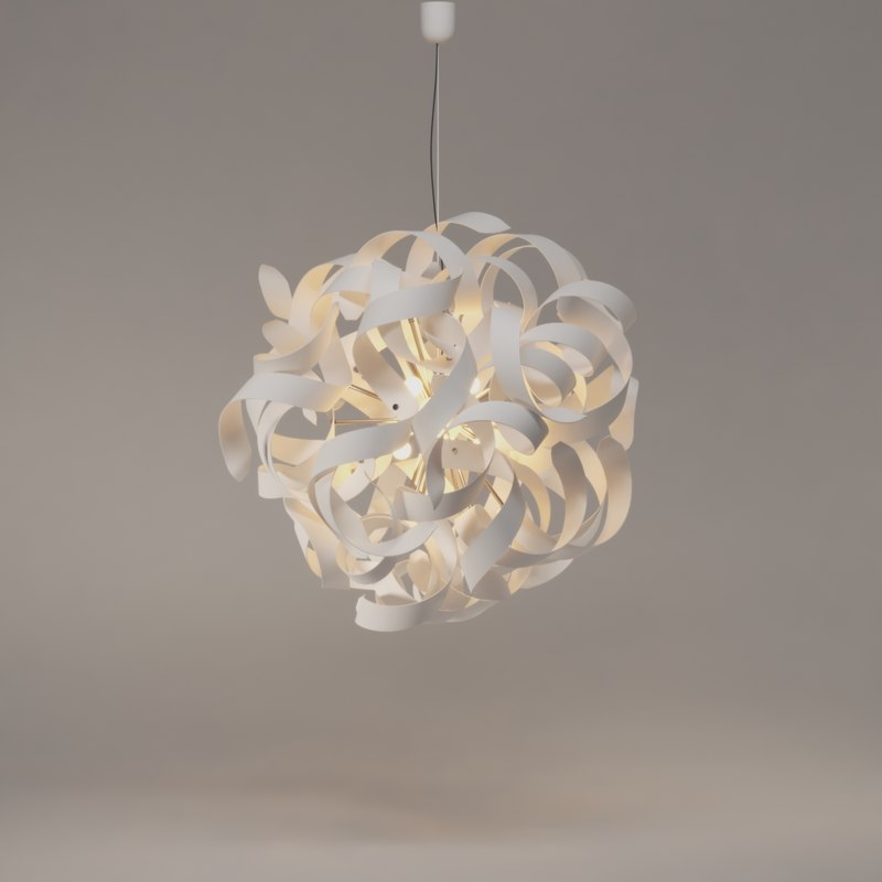 3D atomaled pendant light lucide model