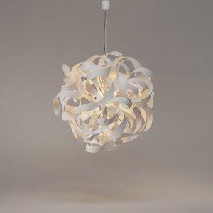 3D atomaled pendant light lucide model