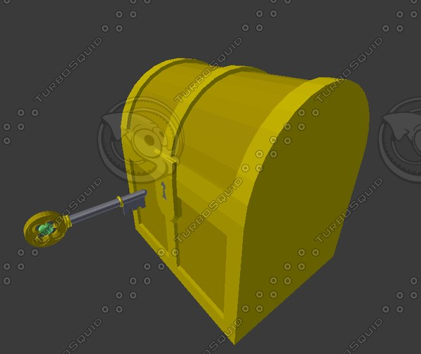 openable treasure box 3D model