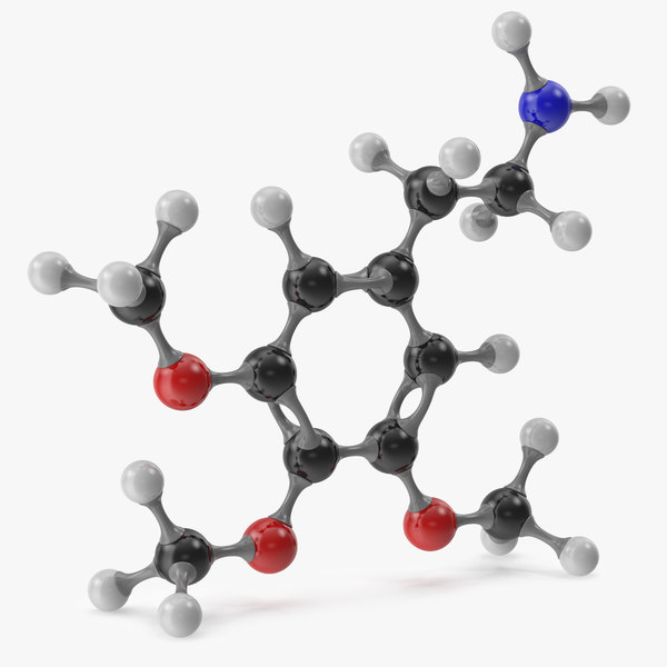 mescaline molecular 3D model