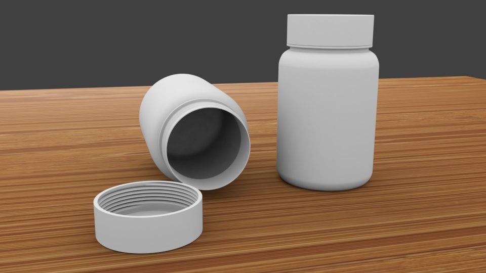 medic bottle 3D model