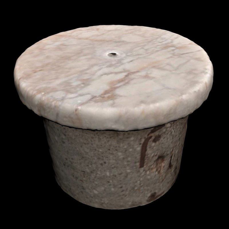 3D marble stool