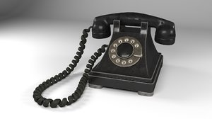 old rotary phone materials 3D