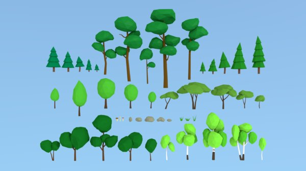 nature trees pine 3D