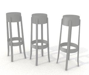 tolix stool 3D