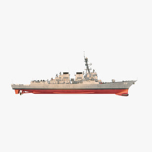 uss preble ddg 88 3D model