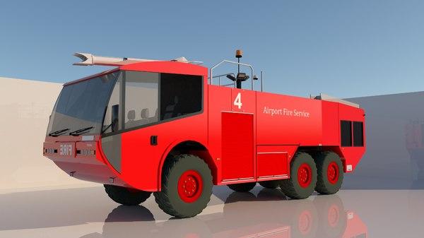 airport truck 3D model