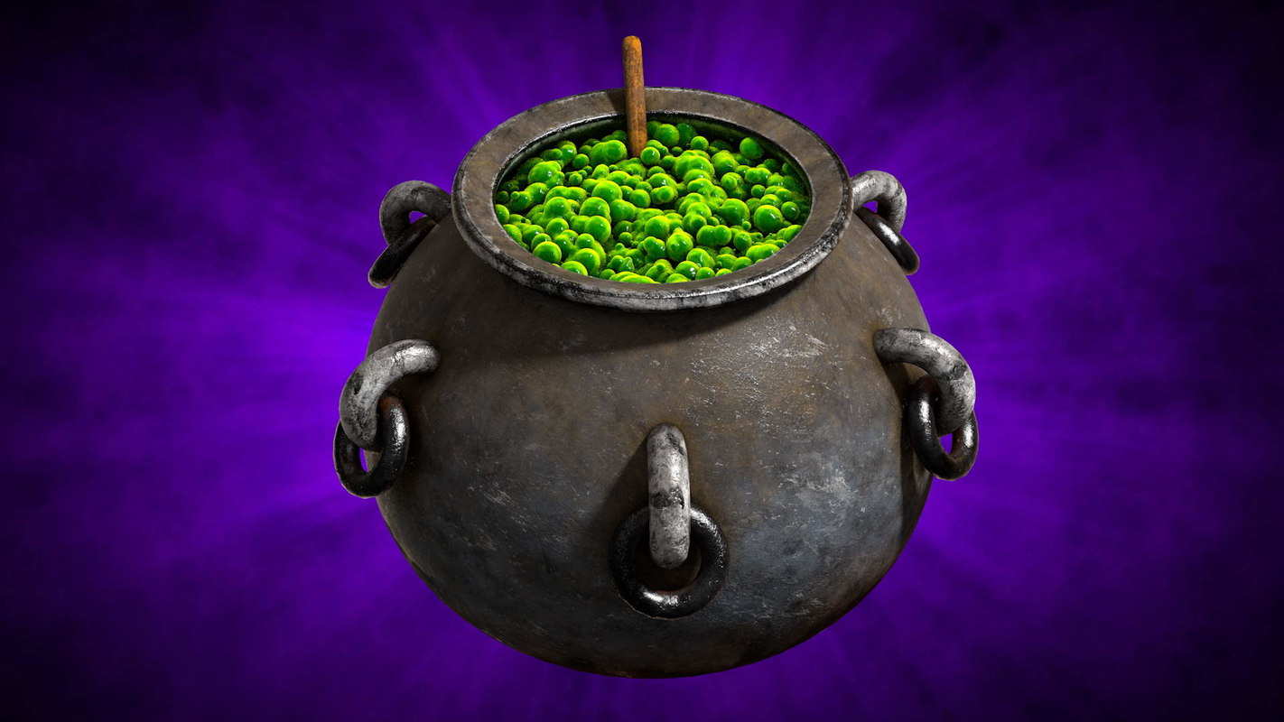 witches cauldron model