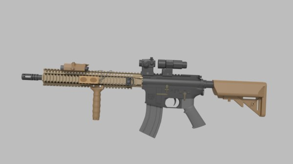 3D m4a1 sopmode block model