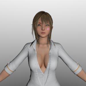 3D japanese woman