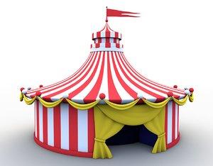 3D cartoon circus tent