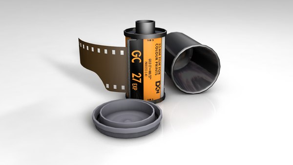 3D model photo film roll