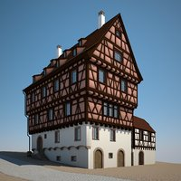 stone medieval house 3D model