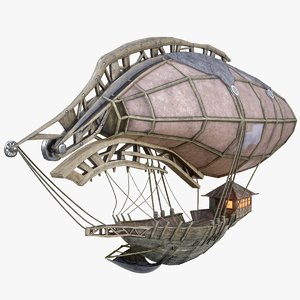 3d model steampunk airship 2