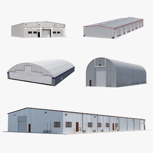 warehouse hangars 3D model