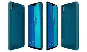 3D huawei y9 2019 blue