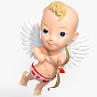 cartoon baby boy cupidon 3D