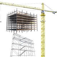 3D construction crane