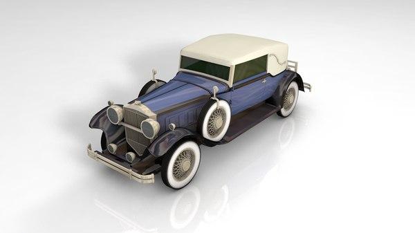 3D packard phaeton antique gangster model