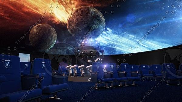 planetarium interior scene 3D