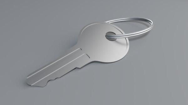 3D model keys keychain