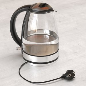 glass electric kettle kitchen interior model