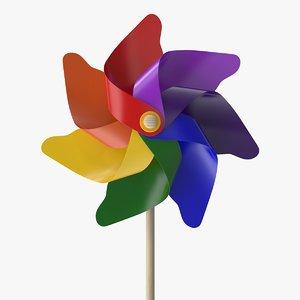 pinwheel color 3D model
