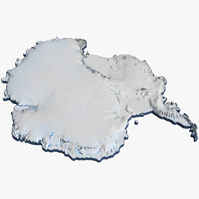 3D antarctica continent