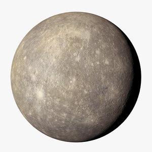 3D mercury 8k planet