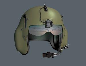 pilots helmet 3D