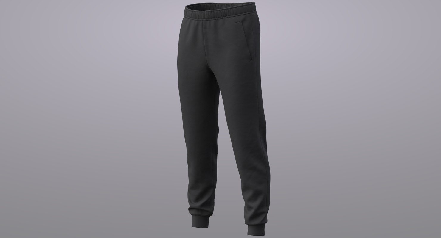 3D realistic sweatpants pbr 01
