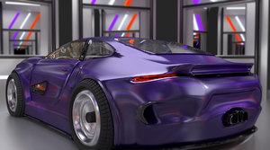 3D car sports model