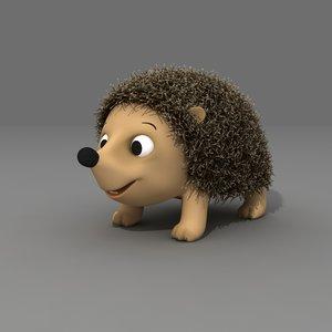3D model hedgehog animals