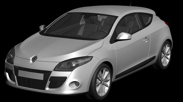 3D car renault megane coupe model