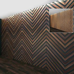3D wall panel set 26 model