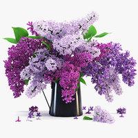 lilac plant flower 3d model