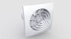 fan bathroom extractor 3D model