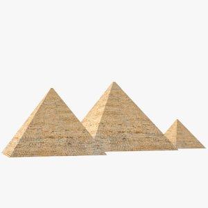 3D pyramids giza 3