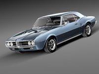3d model of pontiac firebird antique