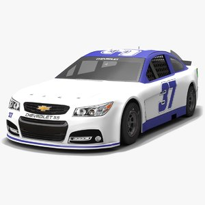 jtg daugherty racing nascar 3D model
