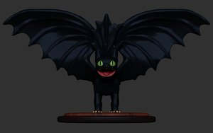 3D model toothless dragon
